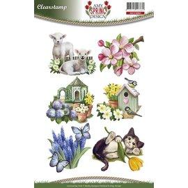 Stempel / Stamp: Transparent Gennemsigtige frimærker, foråret kommer