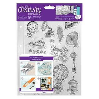 Docrafts / Papermania / Urban Transparent stamps, Steampunk