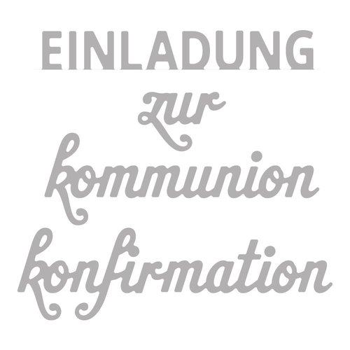 Spellbinders und Rayher Stamping template kit: Text Confirmation / Communion