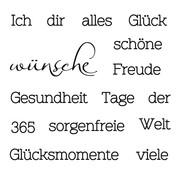 Stempel / Stamp: Transparent Tampons transparents: texte avec des besoins différents