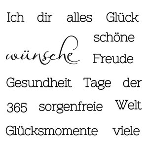 Stempel / Stamp: Transparent Gennemsigtige frimærker: tekst med forskellige behov