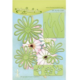 Leane Creatief - Lea'bilities und By Lene Stamping and Embossing stencil, the multi-flower 9 Chrysant
