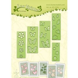 Leane Creatief - Lea'bilities und By Lene Stamping and Embossing stencil, flowers and butterflies