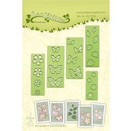 Leane Creatief - Lea'bilities und By Lene Estampación y embutición de la plantilla, flores y mariposas