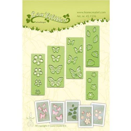 Leane Creatief - Lea'bilities und By Lene Estampage et Pochoir gaufrage, fleurs et papillons