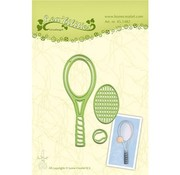 Leane Creatief - Lea'bilities und By Lene Stamping and Embossing stencil, Tennis