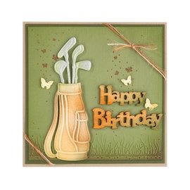 Leane Creatief - Lea'bilities und By Lene Stamping and Embossing stencil, Golf