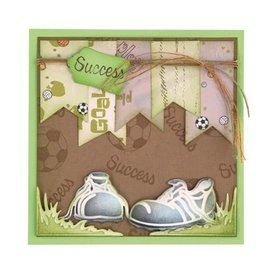 Leane Creatief - Lea'bilities und By Lene Stamping and Embossing stencil, Football