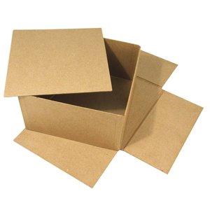 Objekten zum Dekorieren / objects for decorating Paper mache box, Cover Me, 20x20x11 cm