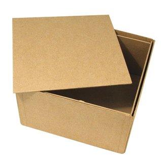 Objekten zum Dekorieren / objects for decorating Papier mache doos, Cover Me, 20x20x11 cm