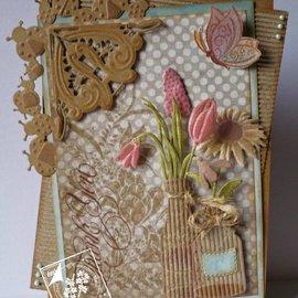Joy!Crafts / Jeanine´s Art, Hobby Solutions Dies /  Skæring og prægning stencils, grænsen med mariehøne