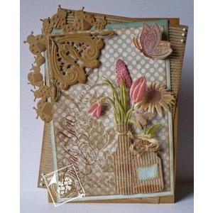 Joy!Crafts / Jeanine´s Art, Hobby Solutions Dies /  Cutting en embossing stencils, grens met lieveheersbeestje
