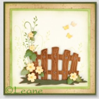Leane Creatief - Lea'bilities und By Lene Stamping and Embossing stencil, Garden Gate