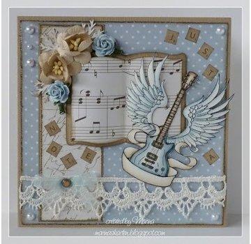 Stempel / Stamp: Transparent I timbri trasparenti, chitarra