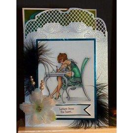 Crafter's Companion A6 Frou Frou tampon en caoutchouc Unmounted Set - Love Letters