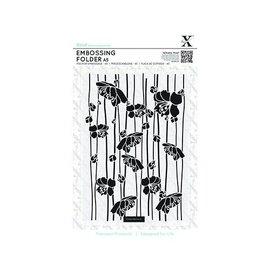Docrafts / X-Cut A5 Embossing Folder - Flor de rayas