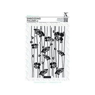Docrafts / X-Cut A5 Embossing Folder - Blossom Stripes