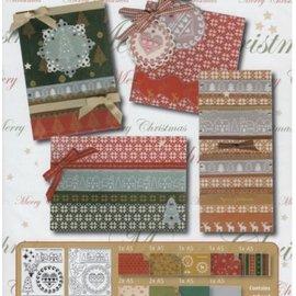 PERGAMENT TECHNIK / PARCHMENT ART Parchment Set: 4 cartes de Noël