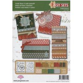 PERGAMENT TECHNIK / PARCHMENT ART Parchment set: for the design of 4 Christmas cards
