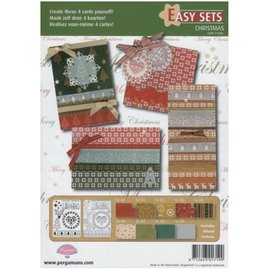 PERGAMENT TECHNIK / PARCHMENT ART Pergament Set: zur Gestaltung von 4 Weihnachtskarten