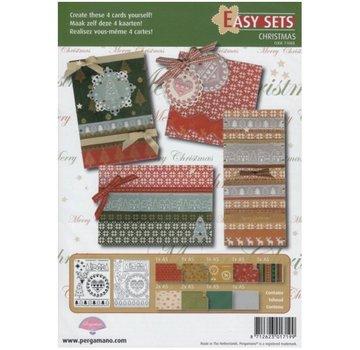 PERGAMENT TECHNIK / PARCHMENT ART Parchment Set: 4 Christmas Cards