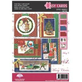 PERGAMENT TECHNIK / PARCHMENT ART Juego de pergaminos: para el diseño de 4 tarjetas de Navidad