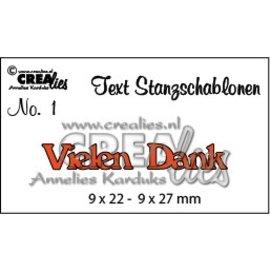 Crealies und CraftEmotions Spotprijs, Duitse tekst stempelen en embossing stencil