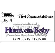 Crealies und CraftEmotions Stanzschablonen, deutsche Text Stanz- und Prägeschablone