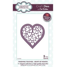 CREATIVE EXPRESSIONS und COUTURE CREATIONS Stamping and Embossing stencil, heart full of hearts