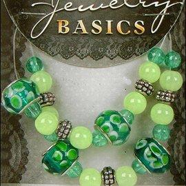 Schmuck Gestalten / Jewellery art Gioielli mestiere set con perle di vetro