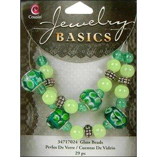 Schmuck Gestalten / Jewellery art Sieraden ambachtelijke set met glazen kralen