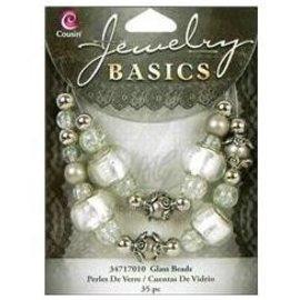 Schmuck Gestalten / Jewellery art Gioielli mestiere set con perle di vetro e argento antico