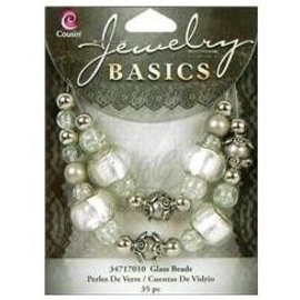Schmuck Gestalten / Jewellery art Jewellery craft set with glass beads and antique silver