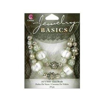 Schmuck Gestalten / Jewellery art Bijoux élaborer ensemble avec des perles de verre et argent antique