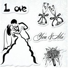 "Stempel / Stamp: Transparent Transparent stamps set, Wedding ""You & Me"""