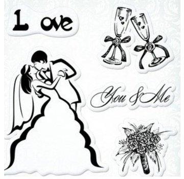 "Stempel / Stamp: Transparent Transparent Stempel Set, Hochzeit ""You&Me"""