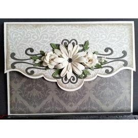 CREATIVE EXPRESSIONS und COUTURE CREATIONS Stempelen en embossing stencil, bloemen