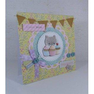 Docrafts / Papermania / Urban Kartenset: 12 Designer Karten & Umschläge, Little Meow