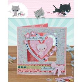 Docrafts / Papermania / Urban Card Set 12 Designer Cards & Buste, Little Meow