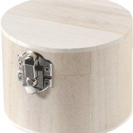 Objekten zum Dekorieren / objects for decorating Holzdose alrededor 9,5x7cm