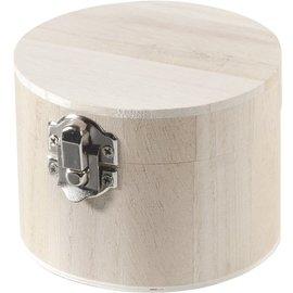 Objekten zum Dekorieren / objects for decorating Holzdose rund 9,5x7cm