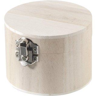 Objekten zum Dekorieren / objects for decorating Holzdose rundt 9,5x7cm