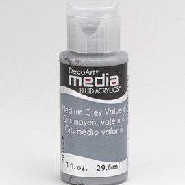 DecoArt, acrílicos fluidos medios de comunicación, gris medio