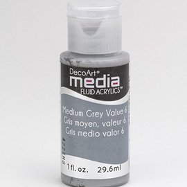 DecoArt, media Fluid acrylic, Medium Gray