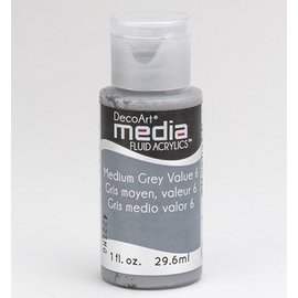 DecoArt, media Fluid acrylics, Medium Grey