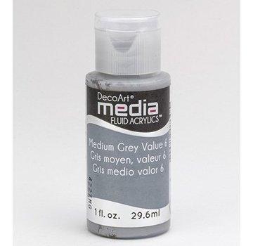 DecoArt, medier væske akryl, Medium Grey
