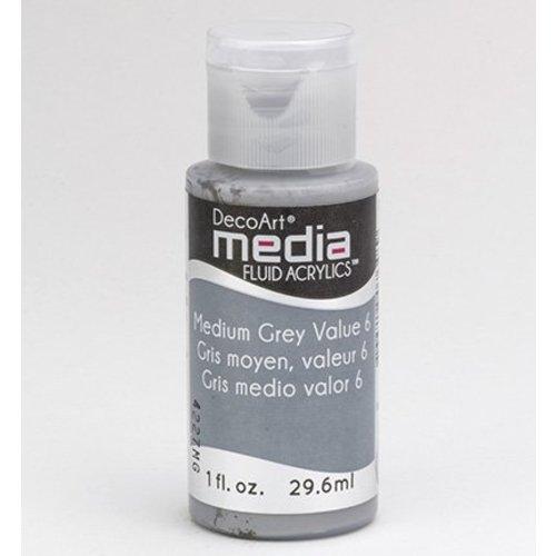 DecoArt, media Fluid acrylics, Medium Grey