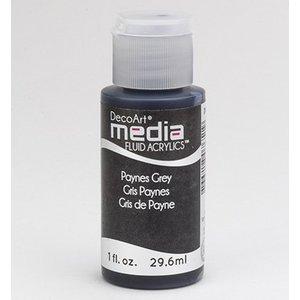DecoArt media Fluid acrylics, Payne's Grey
