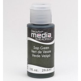 DecoArt media fluid acrylics, Sap Green