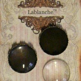 Embellishments / Verzierungen 2 cabujones de vidrio con marco